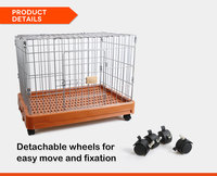 Rolling Wheels Dog Crate Wholesale Pet Crate Manufacturer