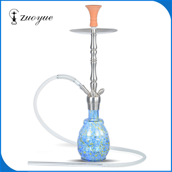 wholesale High quality deluxe Stainless Steel glass hookah shisha RYX004