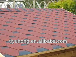 Chinese cheap red color asphalt shingles roofing tile