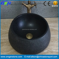 Fancy Natural Stone Carving Bathroom Wash Basin