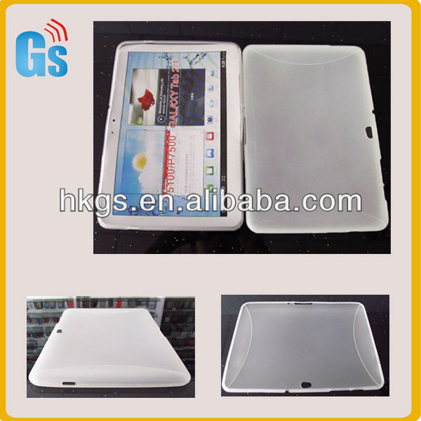 Hot !!! Soft Silicone Tpu Back Cover Cases for Samsung Galaxy Tab 10.1 P7500