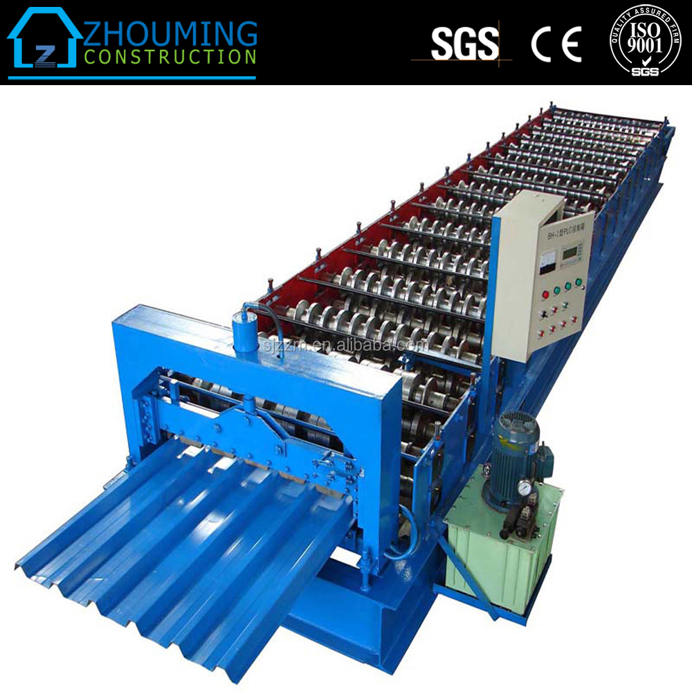 Colored best price steel corrugated root sheet roll forming machine