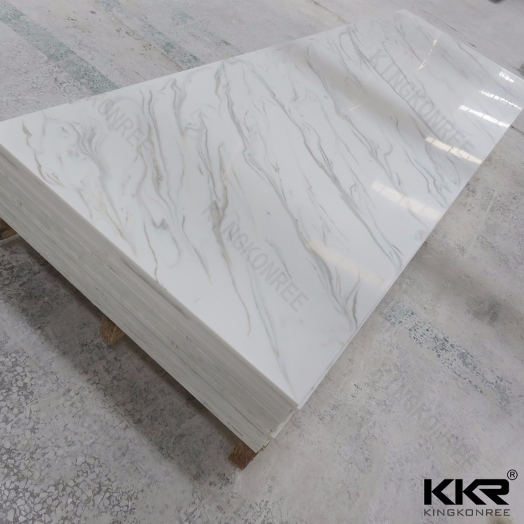 Kingkonree cheap acrylic resin stone / fake stone slab