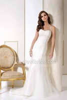 Wonderful Design Lace Appliqued Halter Trumpet Mermaid Wedding Dress