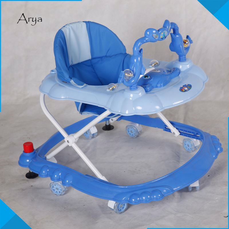 High quality intelligent plastic trolley multifunction best baby kids push walker Customize toy infant stand learning chair