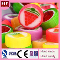 Fruit Pattern Roud Hand Made Hard Candy