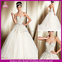 SD1298 sweetheart heavy beaded wedding gowns ball gown wedding dress patterns 2014