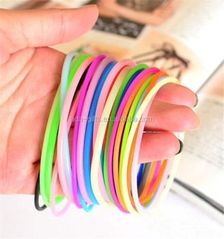 colorful silicone jelly bracelet
