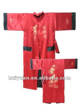 Many colors for two sides wear men bathrobe