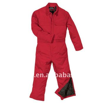 Red Winter Workwear Apparel / Industrial Worker Wear Coverall