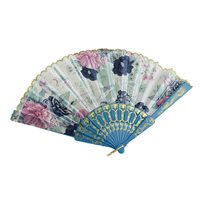 Wedding favors elegant Chinese plastic and fabric hand fans GYS907