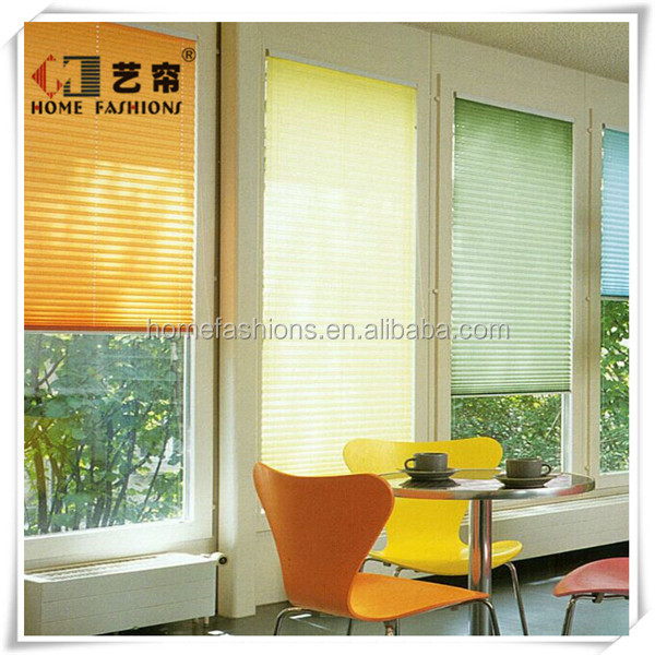 100% polyester Blinds Electronic Cord Pleated Shutters for Window