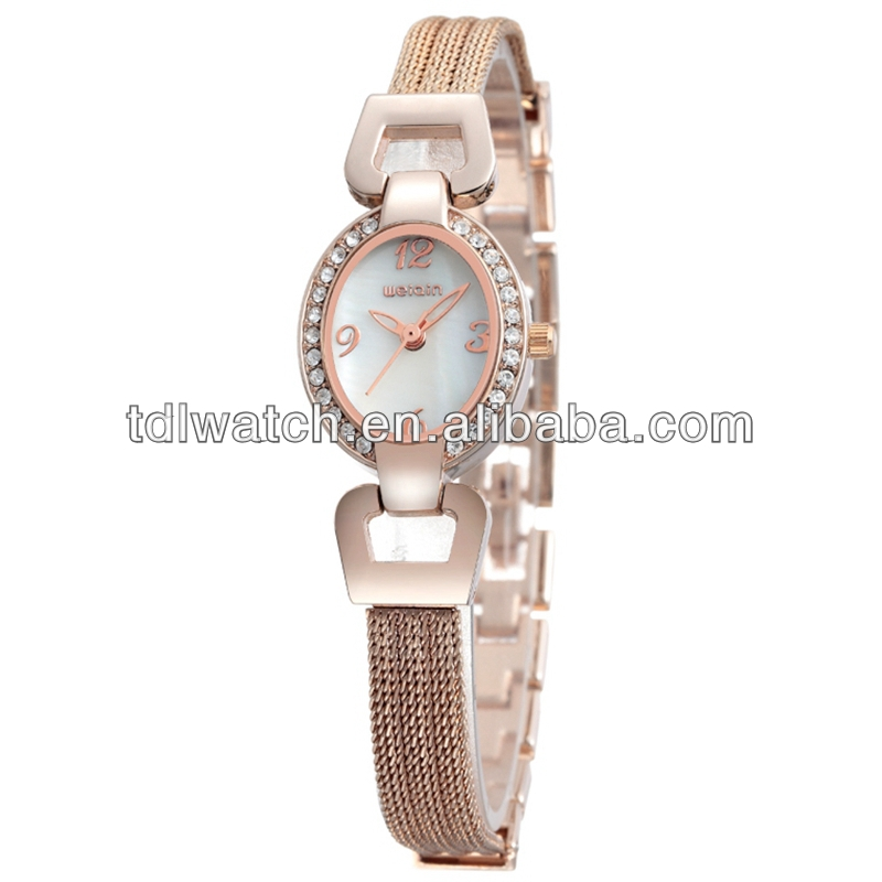 W4592 Latest 2013 womens vogue watches weiqin steel bracelet watch