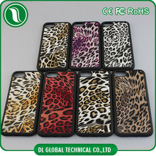 Slim PC+TPU Fashion Sexy Leopard Skin Texture Pattern Premium PU Leather Case for Iphone 5 & 5s