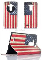 2015 New Retro US Flag Pattern View Window Stand PU Leather Flip Case For LG G4 H810 VS999 F500 Case 10 Styles