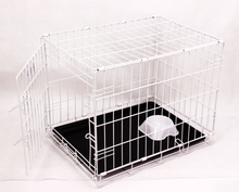 foldable white color welded white wire mesh dog pet cage
