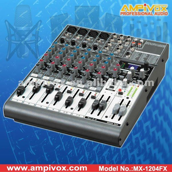Professional Mixing Console with FX processor MX-1204F