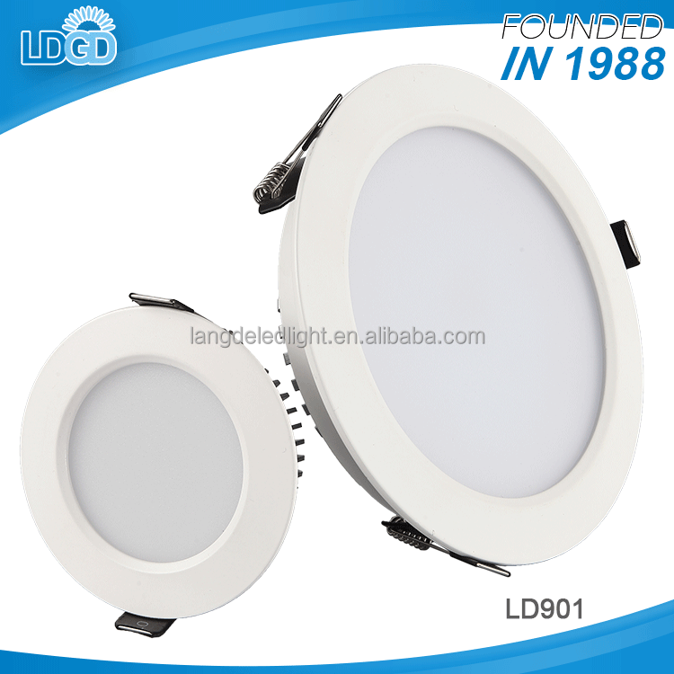 Good heat dissipation ultra slim ce rohs approved recessed 3w 6w dimmable 5730 smd chip led light downlight