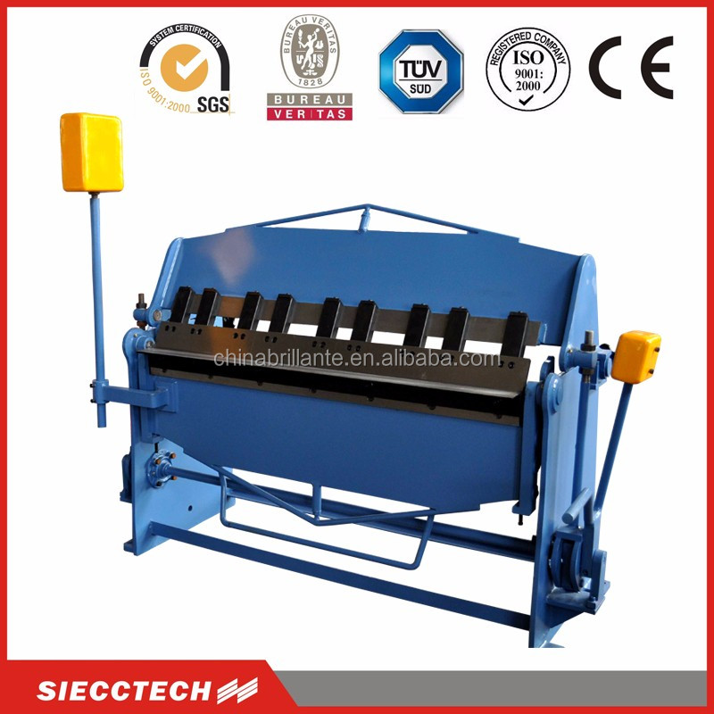 Manual pan and box brake bending folding machine for metal