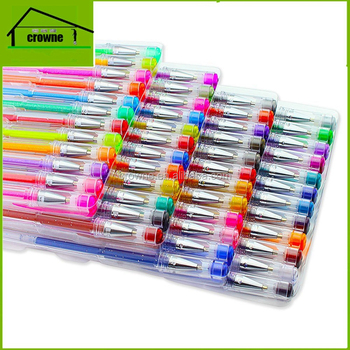 New High Quality Color Pen and Glitter Gel Ink Pen Set