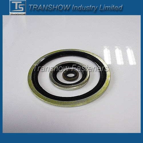 "EPDM Bonded Washer rubber Bonded metal Seal washer BSP1/8""-BSP 2"" self centering bonded dowty seals"