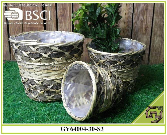 BSCI wild wicker garden baskets