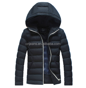 GZY Guangzhou stock lots light warm mens down jacket with hood