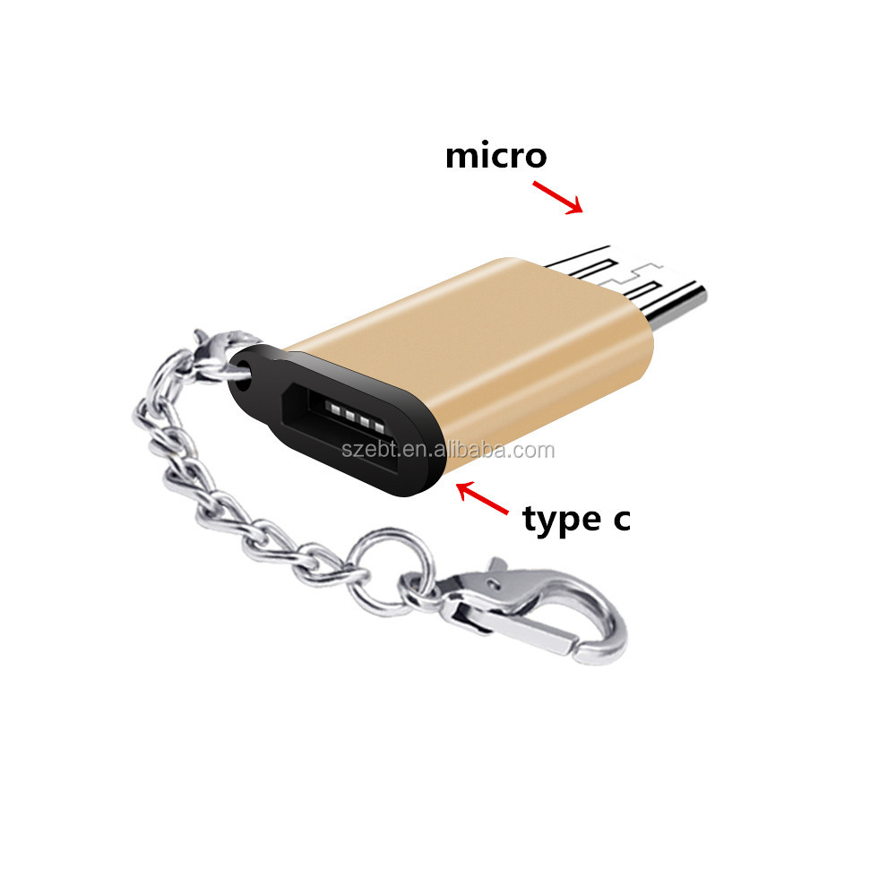 Super Speed USB 3.1 Type <strong>C</strong> Male to Micro USB Female Converter Adapter Connector Charging Data