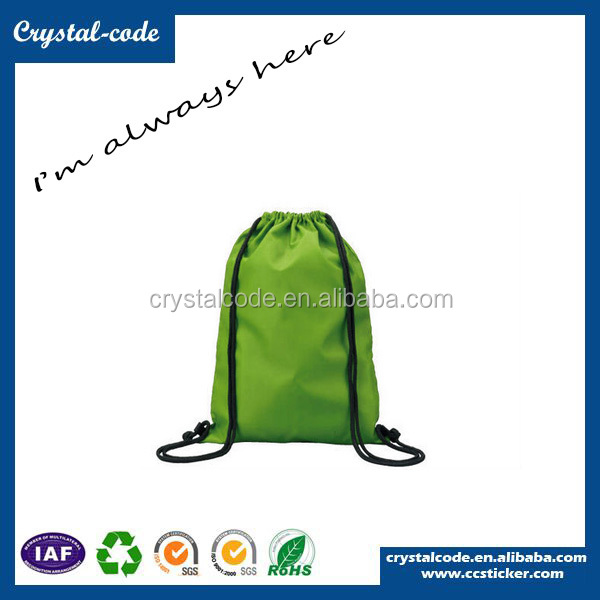 Premium Superfine Polyester Folding Shopping Drawstring Cotton Fabric Bag