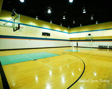 PVC BASKETBALL DESIGN COURT WITH 3-10MM ROLL/TILE FLOORING