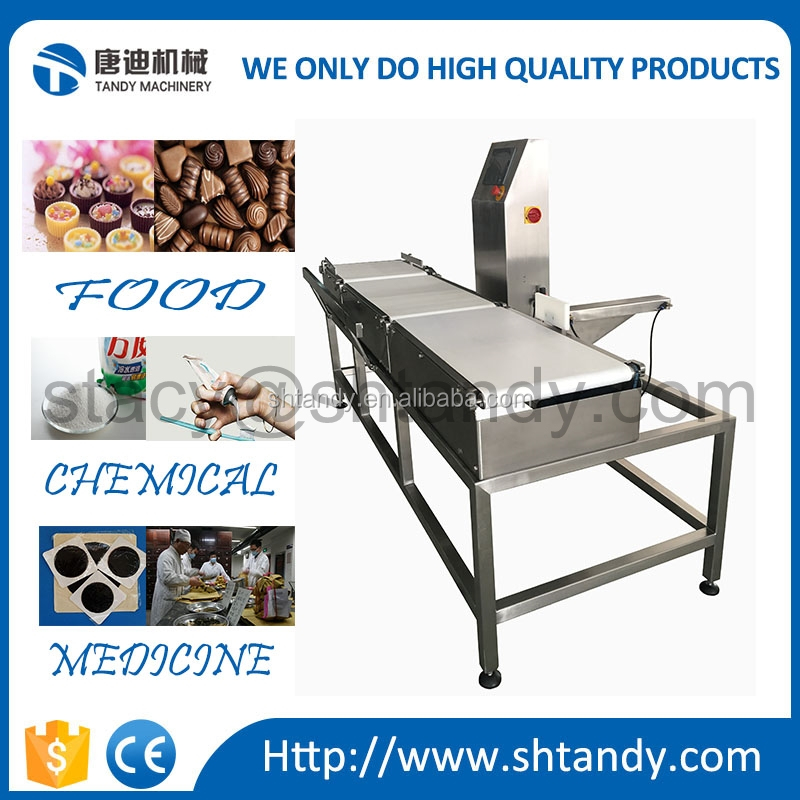 Weight sorting and grading machine check weigher for food