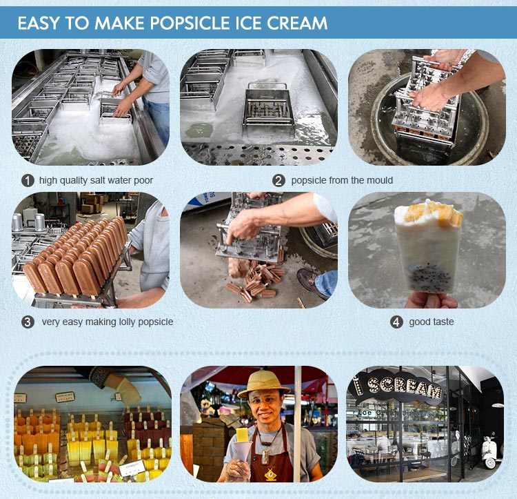 large capacity commercial ice popsicle ice lolly machine for stick popsicle making