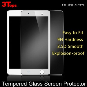 Ultra slim 2.5D 0.3mm Premium Screen Protector Tempered glass/Toughened membrane For ipad air pro mini