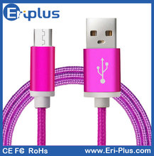 Mobile Phone Accessories Colorful Braided Micro USB Cable