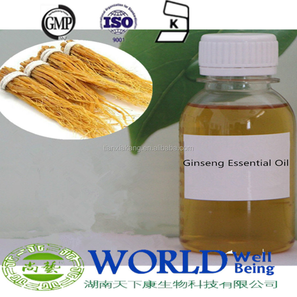 GMP Factory 100% Natural Pure Ginseng Oil For Cosmetic Ginseng Essential Oil