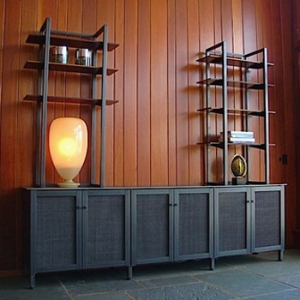 home industrial decoration french style wooden bookcase wall shelves