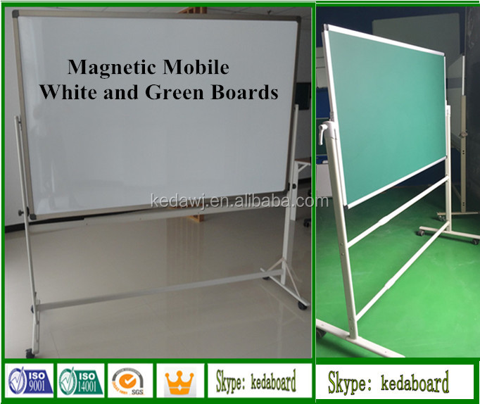 Magnetic Mobile Whiteboard with Wheels