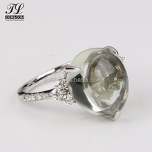 Quality latest indian jewellery,4 colors quartz sterns silver wedding rings
