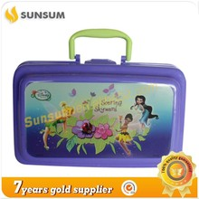 Good Reputation 20x12x7cm Children Insulated Plastic Lunch Box with Handle