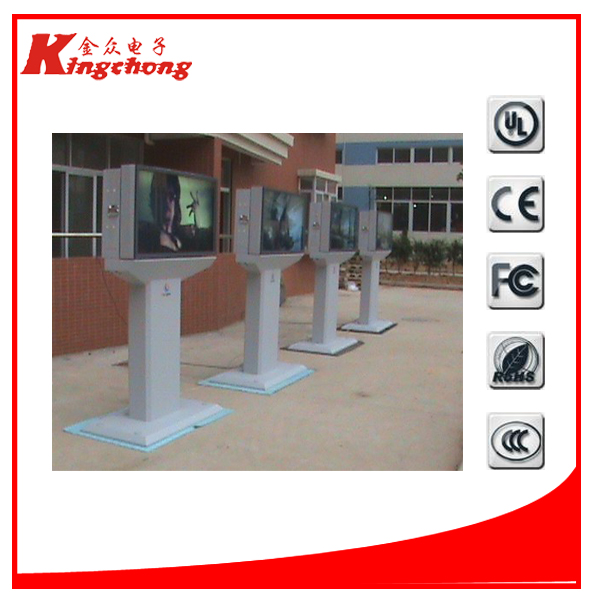 advertising kiosk full hd media player recorder for conference rooms road side outdoor lcd display floor standing