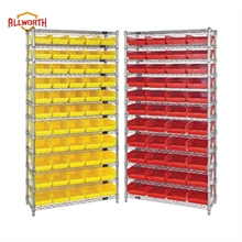 Powder Coated Plastic Bin Shelving Kit