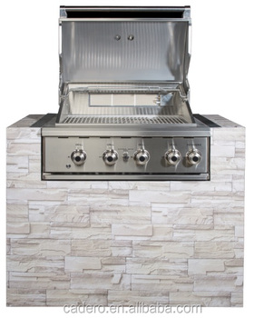 CBY 4-burners full stainless steel BBQ gas grill Built-in Version with special quality