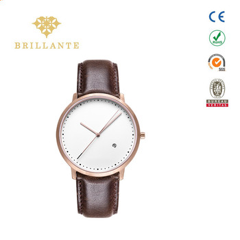 2018 Simple design genuine leather man watch fashion couple watch