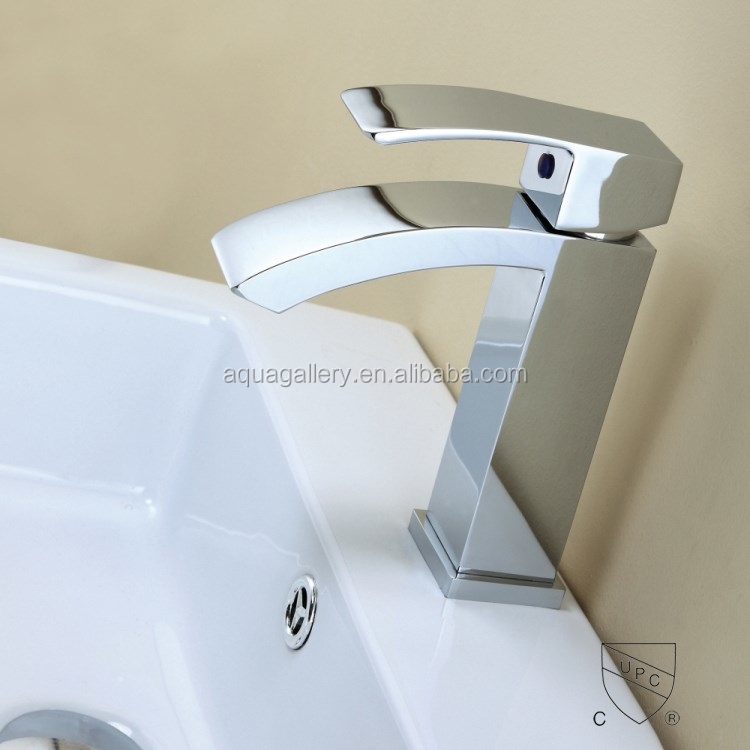 Brushed Nickel Bathroom Water Fall UPC Basin Faucets