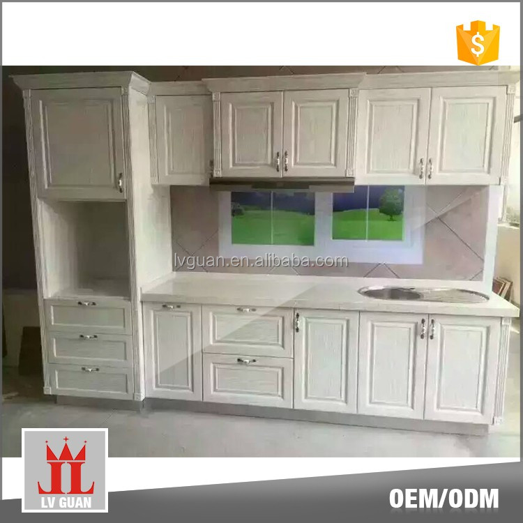 Factory Made Modern Wooden Discontinued Aluminium Kitchen Cabinet For Sale