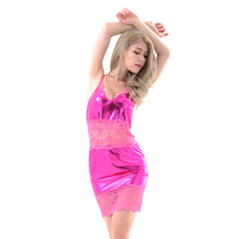 Red hot sexy girls babydoll nighty with adjustable fuchsia tiny straps