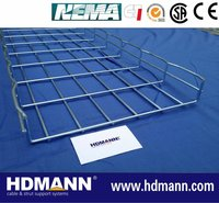 HDG wire mesh cable tray size