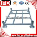 Durable zinc plated metal logistic pallet for cold room