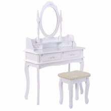 Modern Wood Dressing Table Wood Furniture Design Dresser Table with mirror and stool