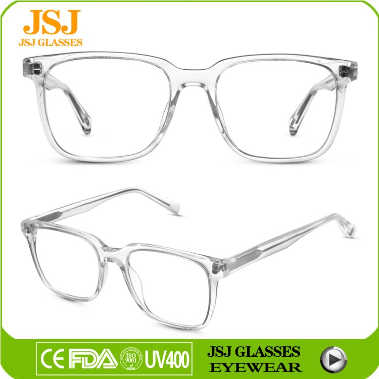 Crystal Optical Frame Handmade Acetate Big Rim Spectacle ...